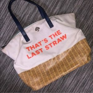Kate spade call to action last straw tote bag
